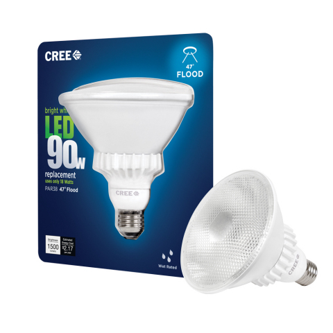 Cree expands its industry-leading LED bulb portfolio to include two new PAR38 LED Bulbs for consumer spot and flood lighting applications. (Photo: Business Wire)