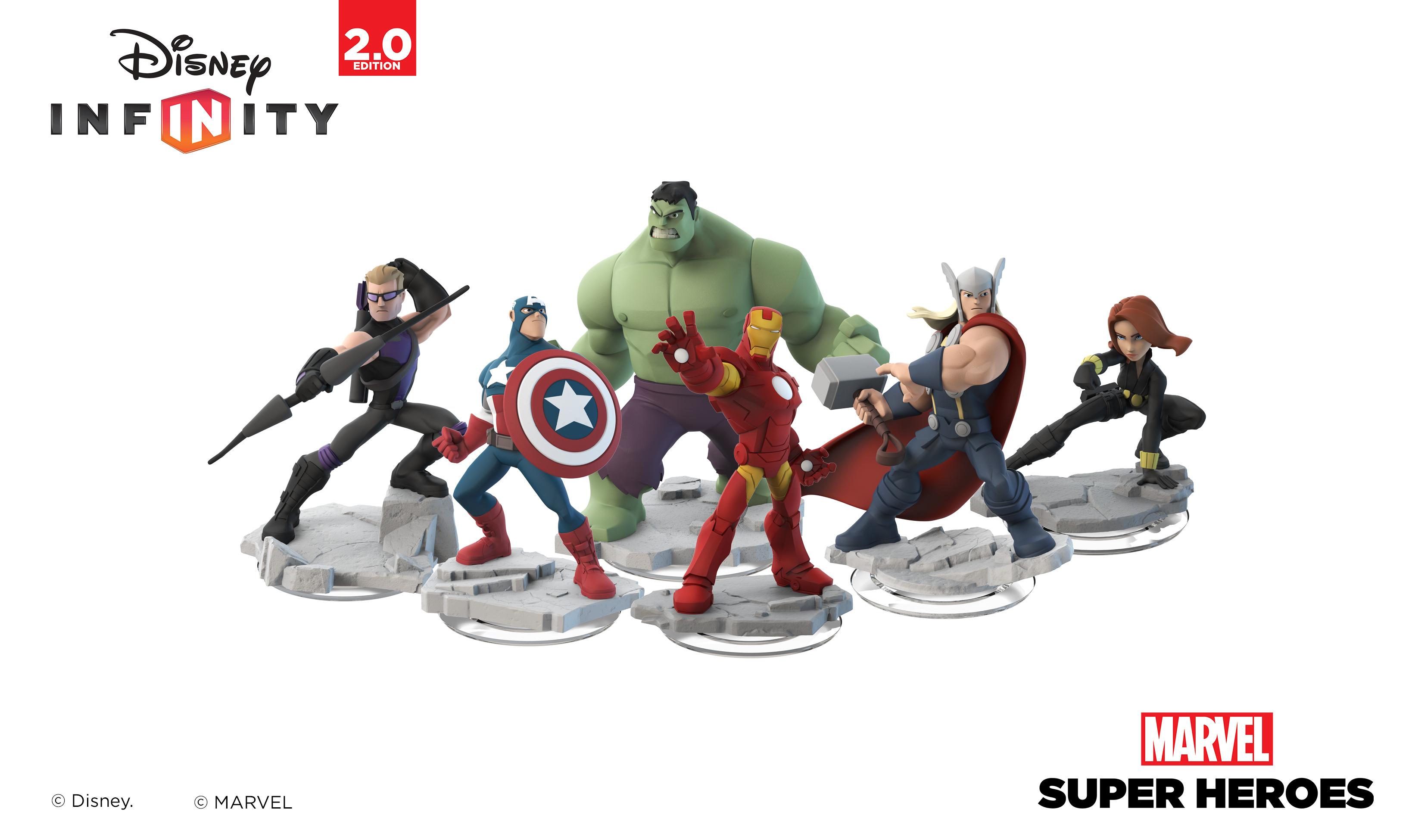 Disney Infinity: Marvel Super Heroes Interactive Character Figures (Photo: Business Wire)