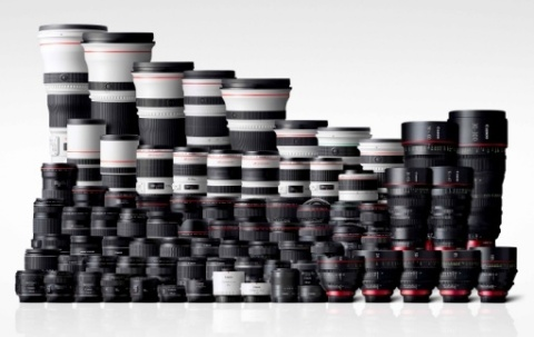Canon EF lens-series lineup (Photo: Business Wire)