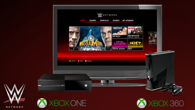 WWE® Network on Xbox One (Graphic: Business Wire)