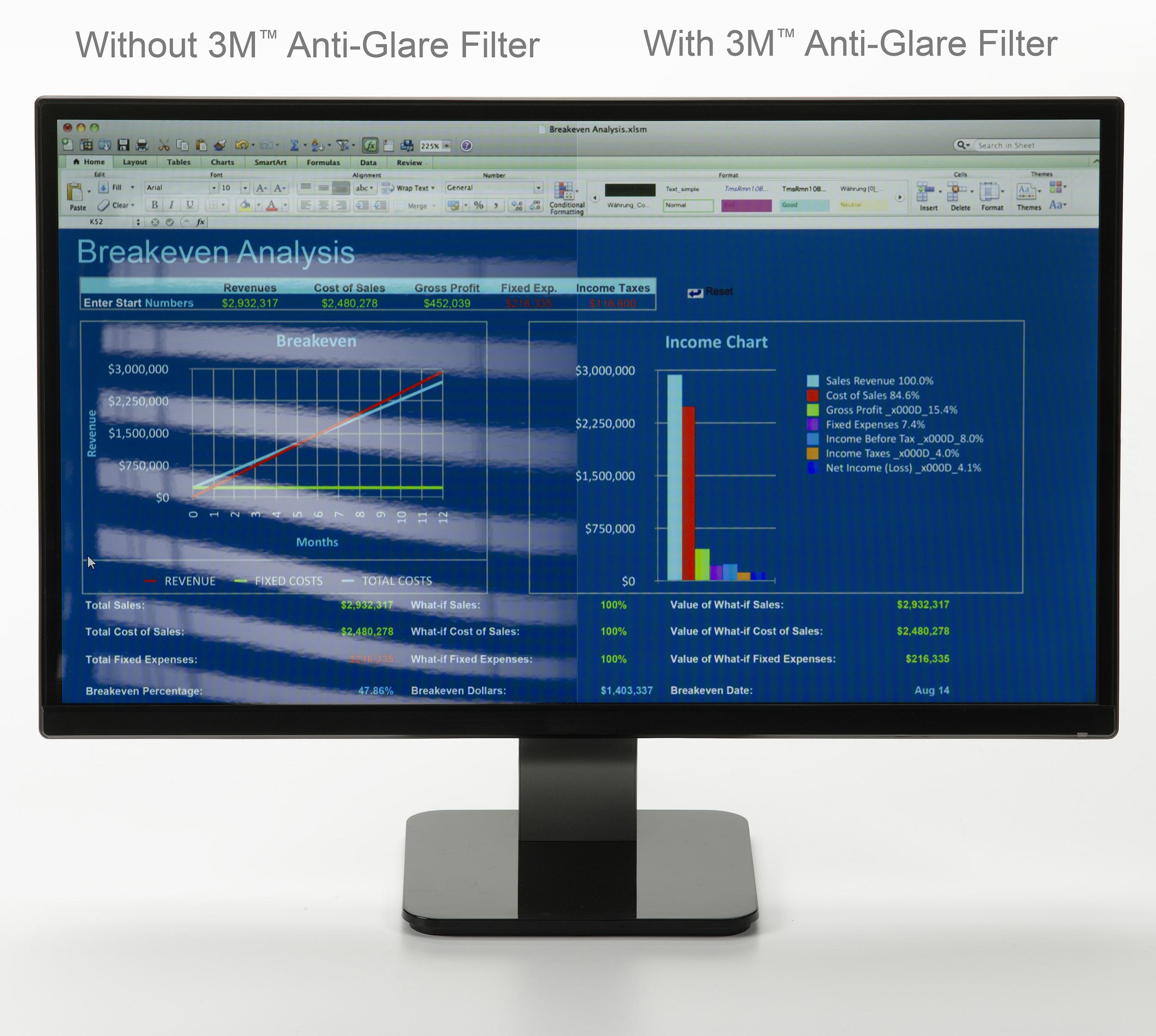3M Anti-Glare Filter www.3MScreens.com/anti-glare
