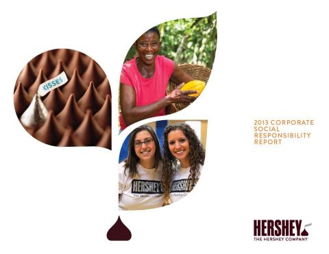 Hershey publishes third CSR report showing how it accomplished 60% of its long-range CSR goals. (Pho ...