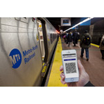 App being used on Metro North (photo:Business Wire)