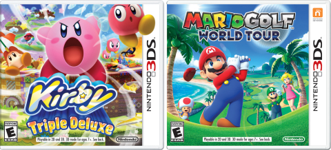 On May 2, the Mario Golf: World Tour and Kirby: Triple Deluxe games are launching in stores and in the Nintendo eShop on the Nintendo 3DS family of systems. (Photo: Business Wire)