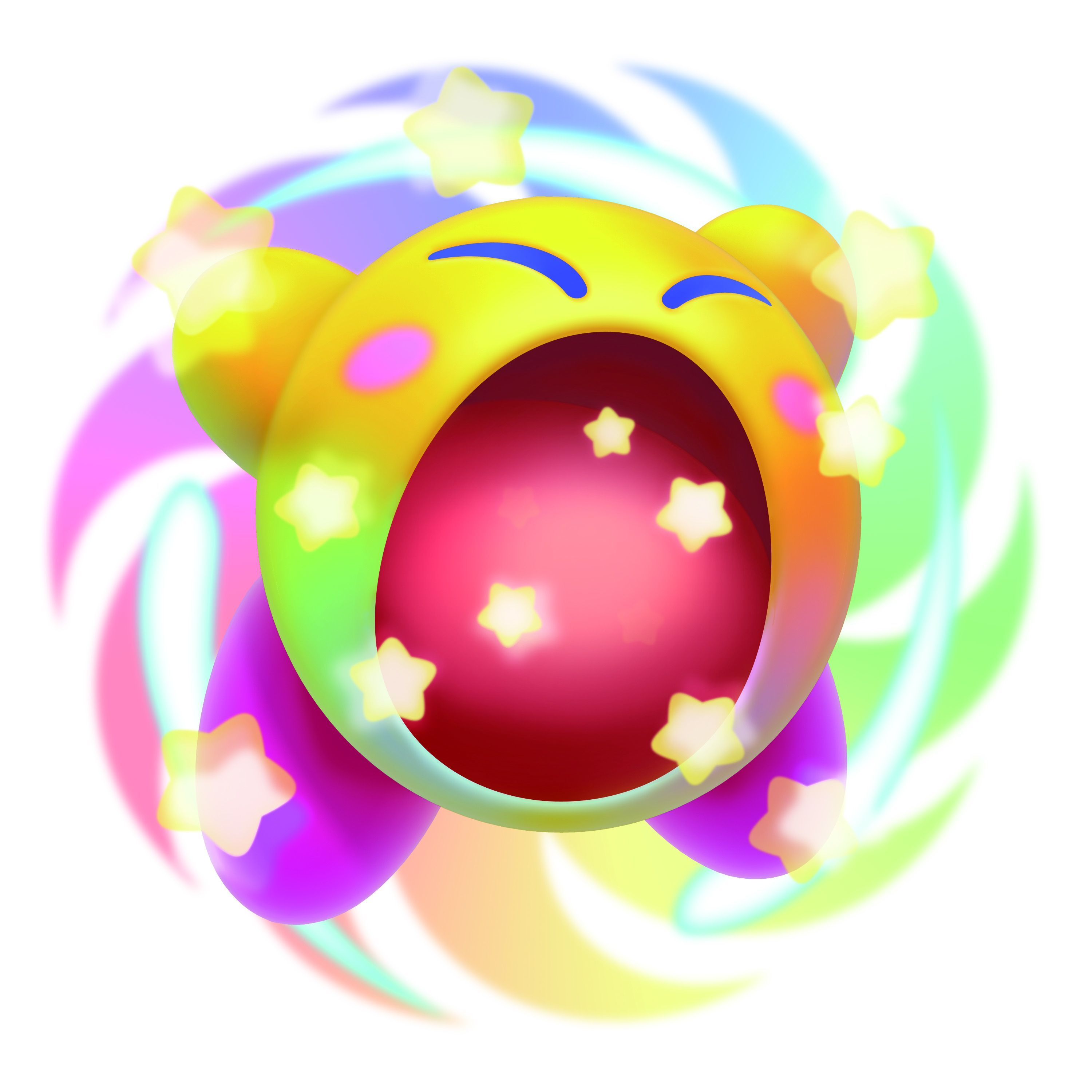New to the Kirby series and a highlight of Kirby: Triple Deluxe is Kirby's new, dramatic Hypernova ability. After collecting Miracle Fruit, Kirby will be imbued with the ability to inhale almost anything that stands in his way, including massive obstacles and entire sections of levels. (Photo: Business Wire)