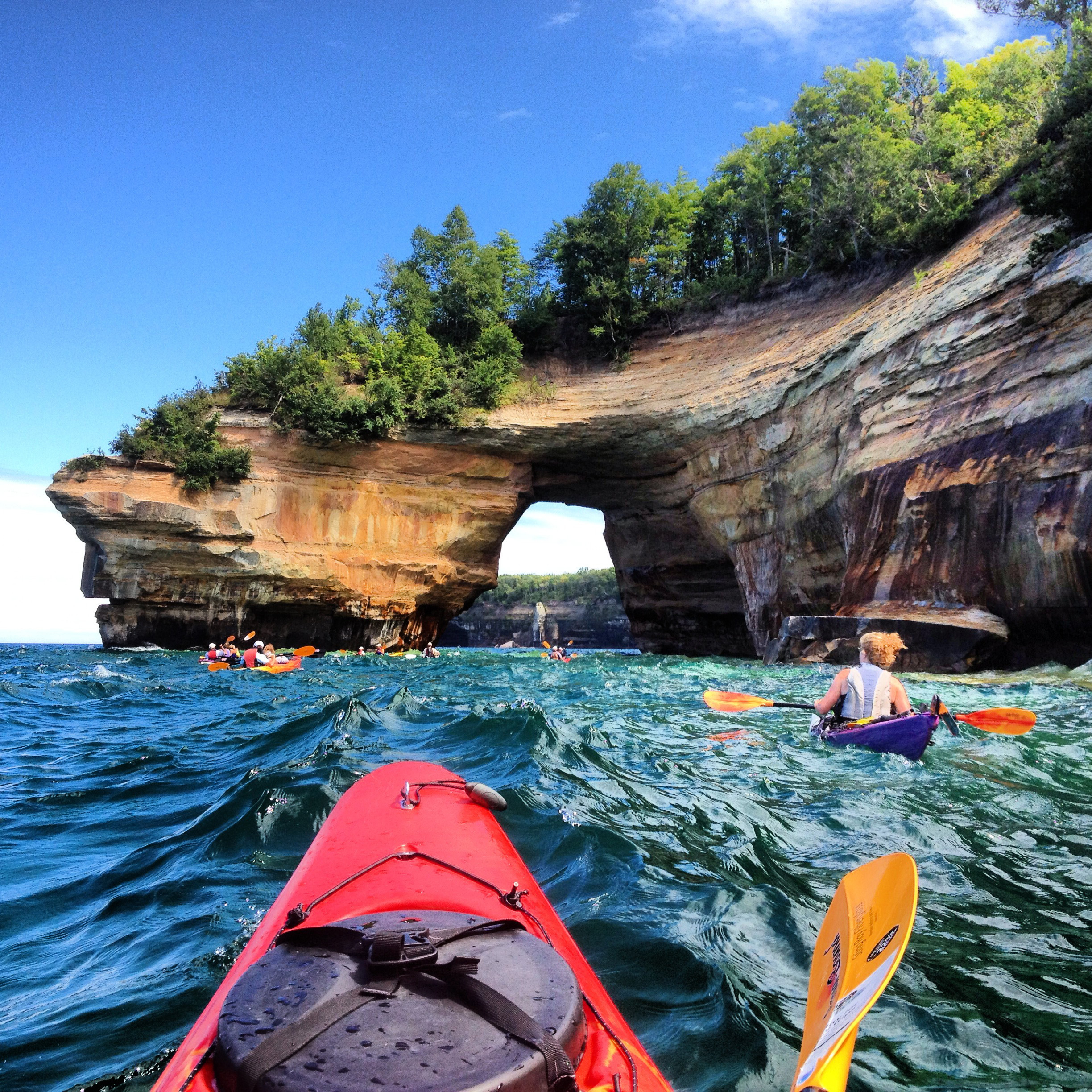2013 Share the Experience winning photo of Pictured Rocks National Lakeshore by Courtney Kotewa. (Photo: Business Wire)