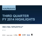 HARMAN 3QFY2014 Supporting Slide Deck
