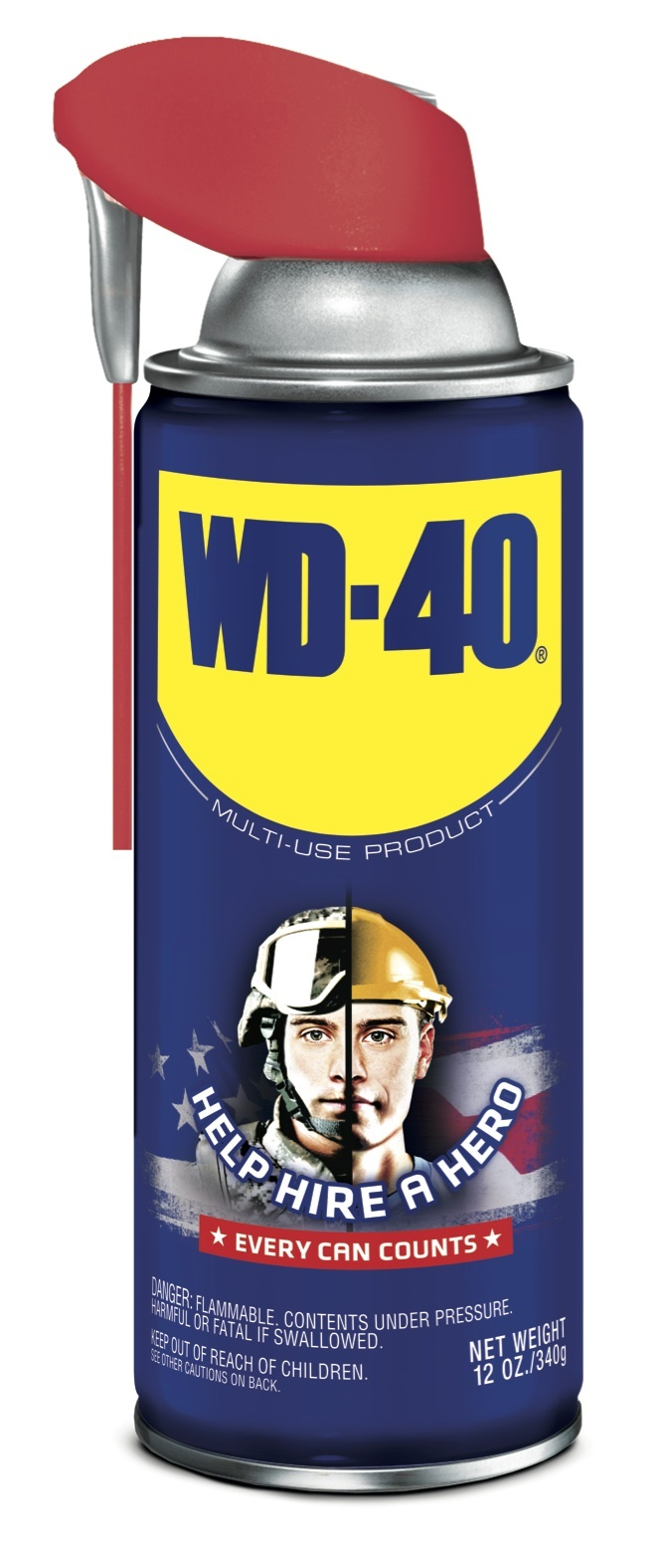"The limited edition ""Help Hire a Hero"" WD-40® Smart Straw® cans help support the U.S. Chamber of Commerce's Hiring Our Heroes® program. (Photo: Business Wire)"