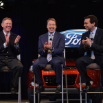 Ford announces that Alan Mulally is retiring on July 1, and that Mark Fields is named company President and CEO. The Long-planned, seamless CEO transition underscores strength of Ford's leadership team and succession planning process, Executive Chairman Bill Ford says. (Photo: Business Wire)