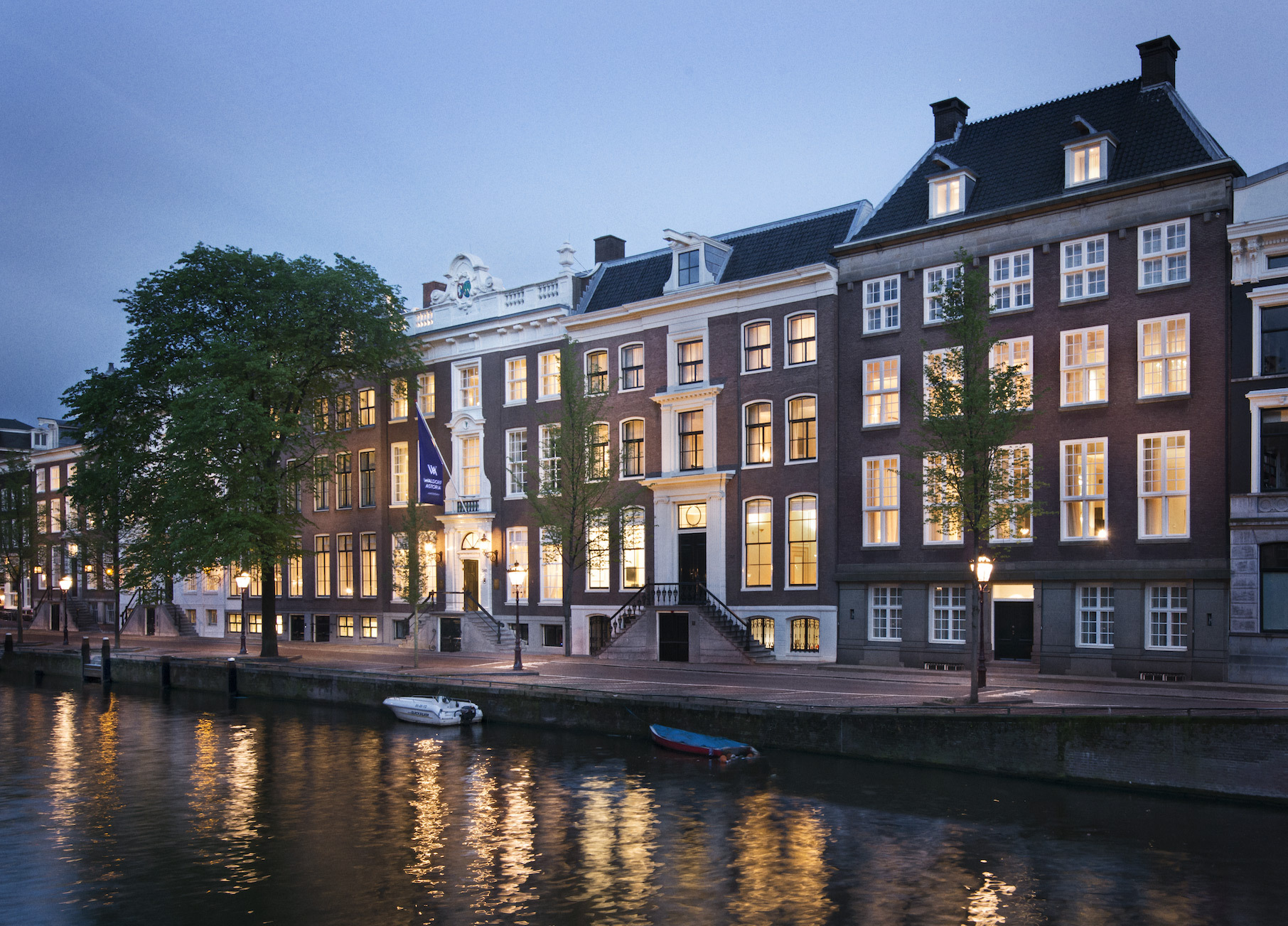 Waldorf Astoria Hotels & Resorts announces the opening of Waldorf Astoria Amsterdam, an elegant 93-room luxury canalside hotel comprised of six historic 17th and 18th century town houses. (Photo: Business Wire)