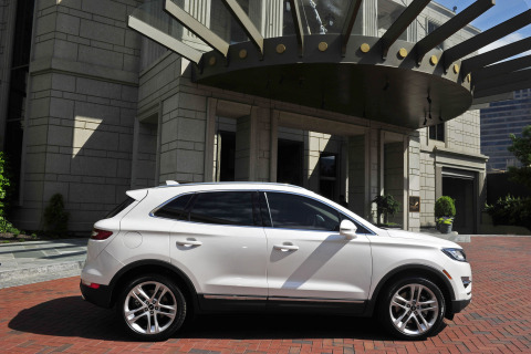 "The all-new 2015 Lincoln MKC small premium utility seen Thursday, May 1, at the Mandarin Oriental Atlanta. The program was part of Lincoln's five-city ""Engage Your Senses"" tour. Photo credit: Getty Images for Lincoln Motor Company"
