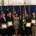 Governor Nikki Haley (center), SCRA CEO Bill Mahoney (left) and other attendees join award winners during the presentation.  (Photo: Business Wire)