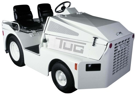 The TUG Technologies Corporation M1A tow tractor's low profile provides greater visibility fore and aft for use in crowded airport environments. (Photo: Business Wire)