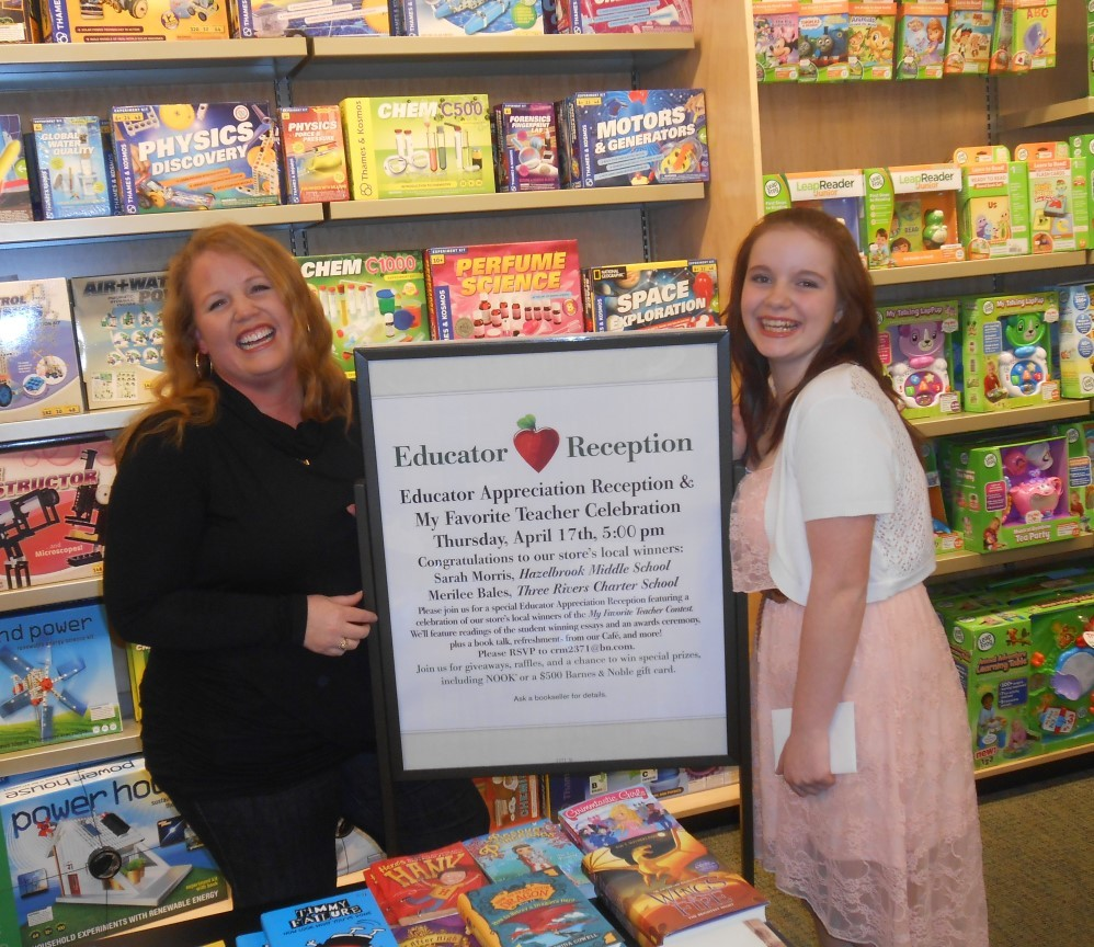 "barnes noble s sarah morris national winner of the ""my  barnes noble s sarah morris national winner of the ""my favorite teacher contest"" and ""teacher of the year"" business wire"