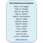 YuMe's Mix + Measure: Global Research Roadshow (Graphic: Business Wire)