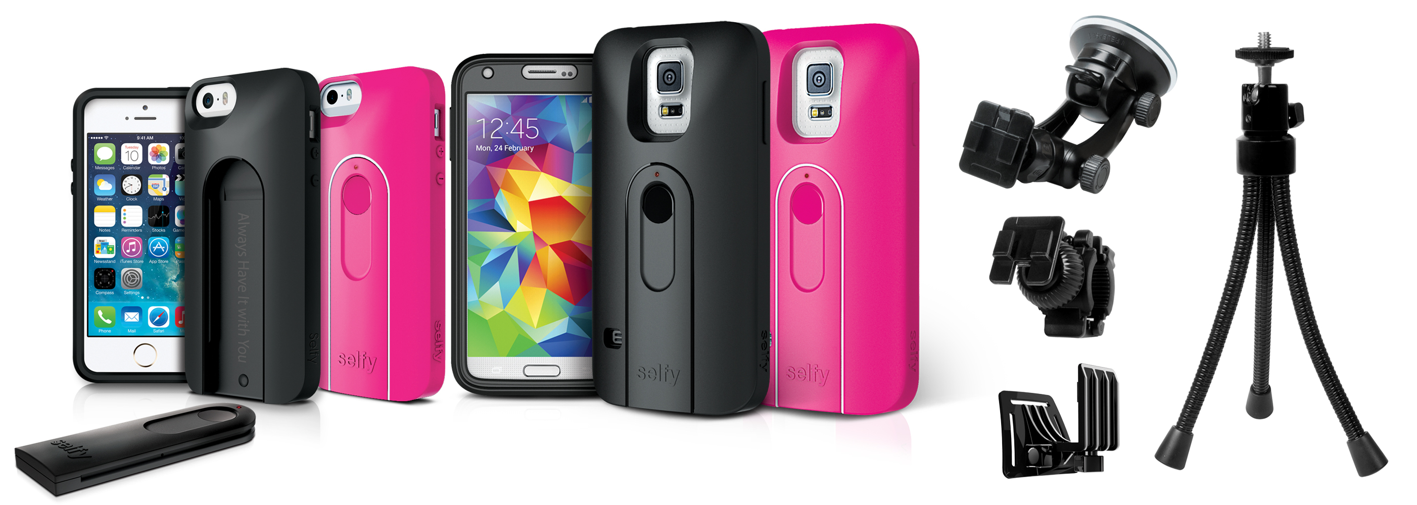 Selfy(TM) by iLuv Offers Stylish Protection, a Remote Camera Shutter, and Camera Accessories for the iPhone 5/5s and GALAXY S5 (Photo: Business Wire)