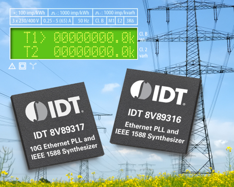 IDT Introduces Industry's First Ethernet and IEEE 1588 Timing Devices Optimized for Smart Grid and Industrial Automation Applications (Graphic: Business Wire)