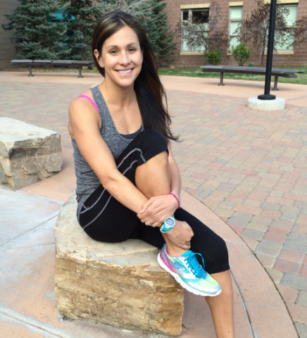 American long-distance runner Kara Goucher in the Skechers GOmeb Speed 2 (Image courtesy of Kara Goucher)