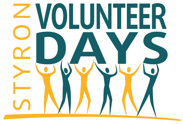 Styron global employees participate in Inaugural Volunteer Days from May 7-18, 2014. (Graphic: Business Wire)