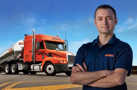 Schneider Tanker Driver Lucas Karcher (Photo: Business Wire)