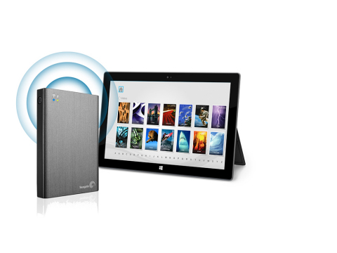 Seagate Media App for Seagate Wireless Plus mobile storage is now compatible with Windows 8 and includes integration with popular cloud storage services. (Graphic: Business Wire)