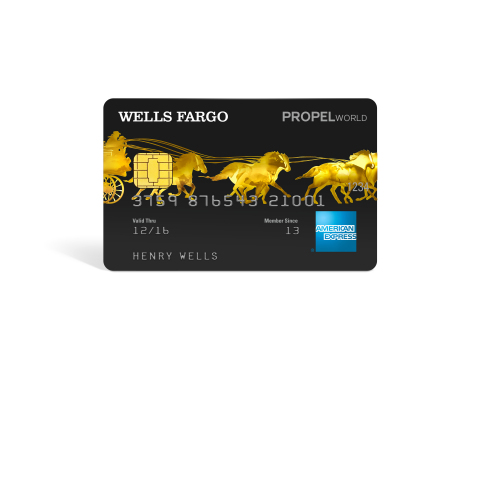 Wells Fargo Propel World American Express(R) Card (Photo: Business Wire)