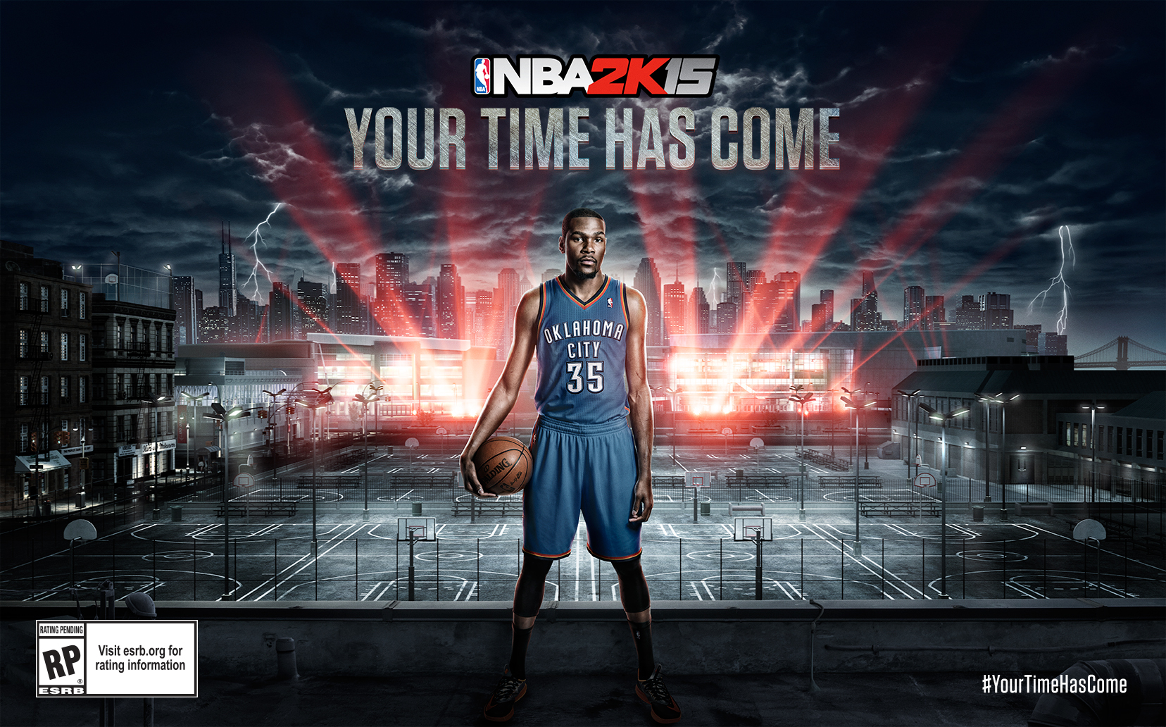 2K today announced that Oklahoma City Thunder superstar, four-time NBA scoring champion, and recently crowned 2014 NBA Most Valuable Player, Kevin Durant, will make his solo debut as video game cover athlete on NBA(R) 2K15, the next installment of the top-selling and top-rated NBA video game simulation franchise*. With the selection, Durant completes a banner year in which he garnered the NBA's top award for the first time in his career and fulfilled his lifelong dream of being the feature athlete on an NBA 2K cover, all while cementing his legacy as one of the greatest players of this generation.(photo: Business Wire)