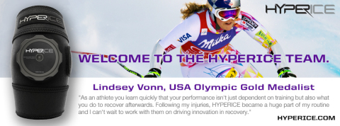 Lindsey Vonn Joins Star Athletes at Hyperice (Graphic: Business Wire)