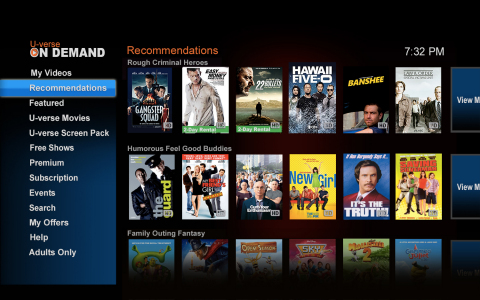 AT&T U-Verse's new On-Demand discovery features powered by Jinni's taste based recommendations. (Graphic: Business Wire)