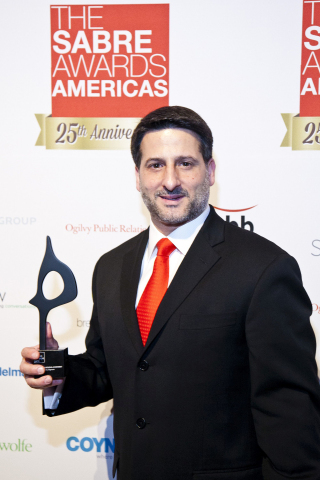 On May 6 in New York City, Taylor CEO Tony Signore received a special SABRE Award for Outstanding Individual Achievement. The award was presented by the Holmes Group, one of the public relations industry's most respected media organizations. (Photo credit: Andrew Kist)