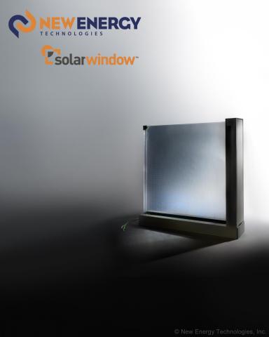 Concept model of SolarWindow™ Insulated Glass Unit (IGU) (Photo: New Energy Technologies, Inc.)