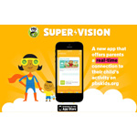 Now available on iPhone and iPod touch, PBS KIDS Super Vision is a new app for parents that enables them to see remotely what their kids are learning in PBS KIDS games and videos, help manage their kids' time on pbskids.org and build on that learning away from the screen through real-time updates, educational tips and activity ideas that are related to their children's interests. (Graphic: PBS KIDS)