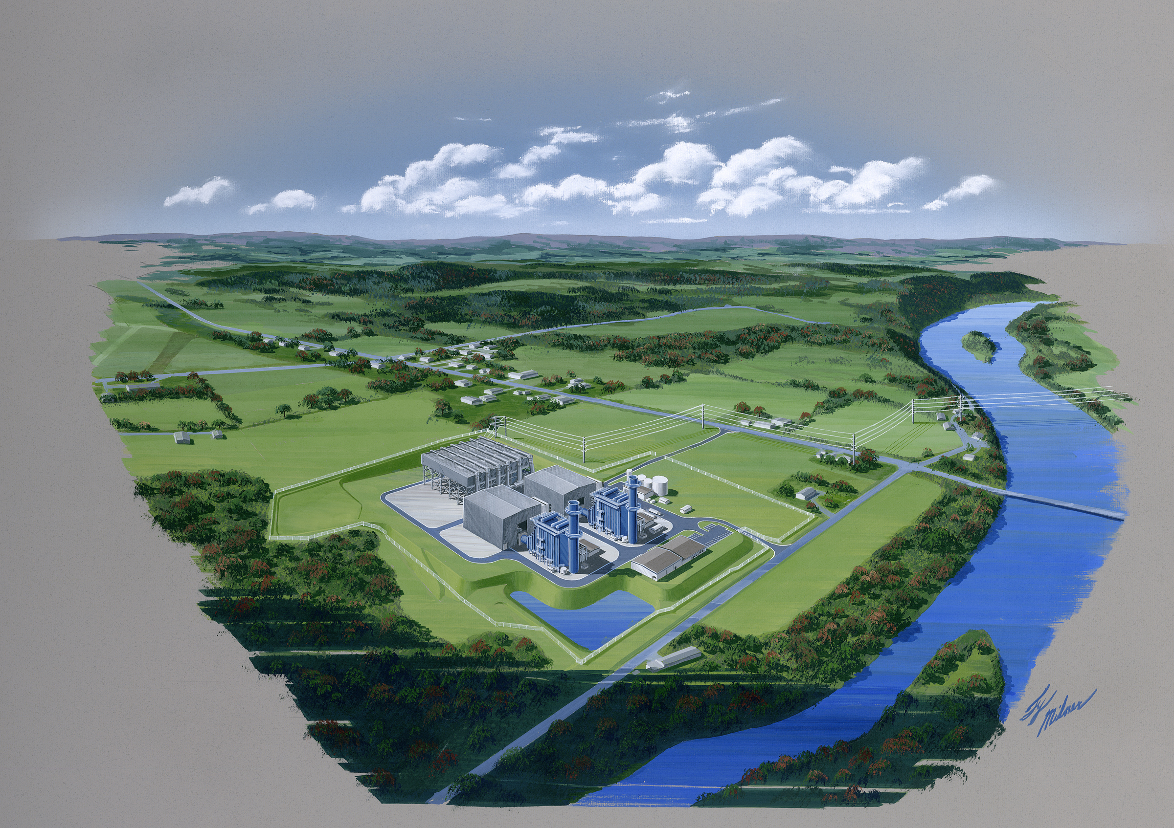 """Panda Power Funds 829 MW """"Liberty"""" Generating Station located in Bradford County, PA (Graphic: Business Wire)"""