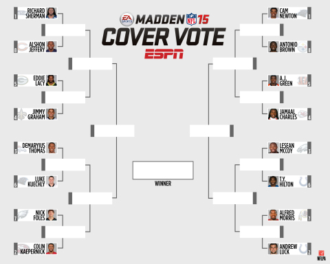 EA SPORTS Madden NFL 15 Cover Vote Bracket (Graphic: Business Wire)
