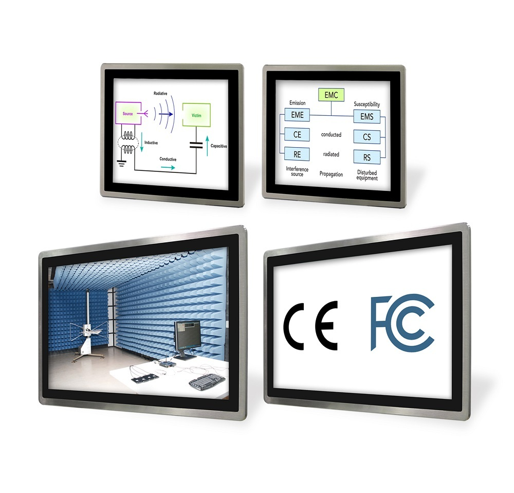 Operator Interface Panels, HMI Panel PCs, FCC and CE Certified, EMC/EMI/ESD Standards and Certifications (Photo: Business Wire)