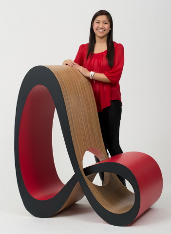 "Jenny Trieu from the University of Houston named winner of the 10th Annual ""Wilsonart Challenges..."" Student Chair Design Competition (Photo: Business Wire)"