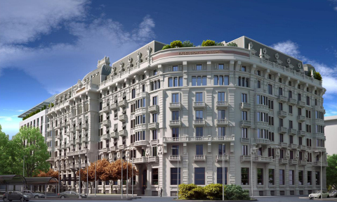 Façade of the Excelsior Hotel Gallia in Milan, Italy (Photo: Business Wire)