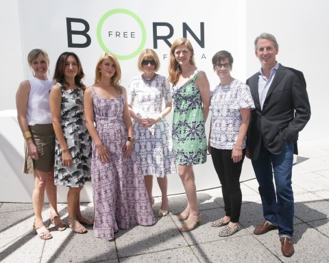 Jennifer McCrea, Cathy Beaudoin, Claire Danes, Anna Wintour, Samantha Power, Nancy Mahon & John Megrue Born Free Africa Mother's Day Carnival Photo Credit: David X Prutting/BFAnyc.com (Photo: Business Wire)