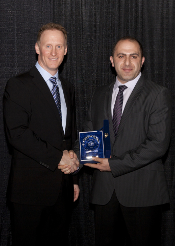 Printed Circuit Design and Fab (PCD&F) Magazine presents New Product Introduction Award to Dow. Pict ...