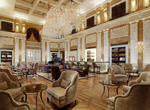 1873 HalleNsalon bar and lounge at Hotel Imperial, a Luxury Collection Hotel, Vienna (Photo: Busines ...