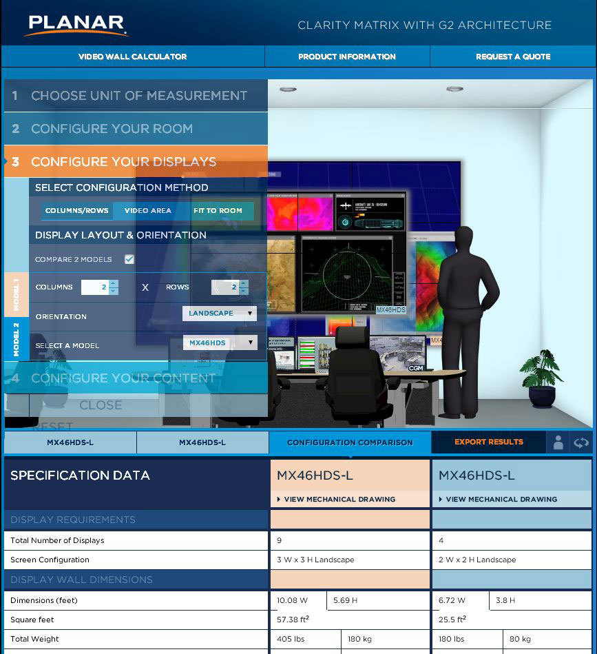 Planar rolls out clarity matrix video wall calculator business wire full size greentooth Gallery