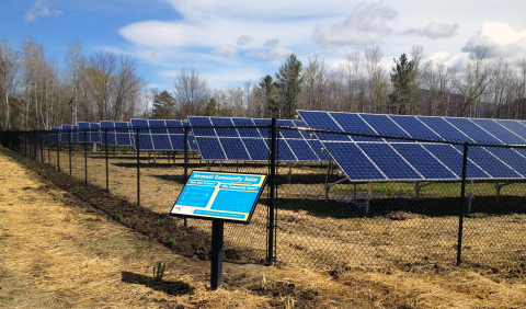 The Rutland, Vermont Community Solar Project is now operational serving the needs of businesses and citizens in the region. (Photo: Business Wire)