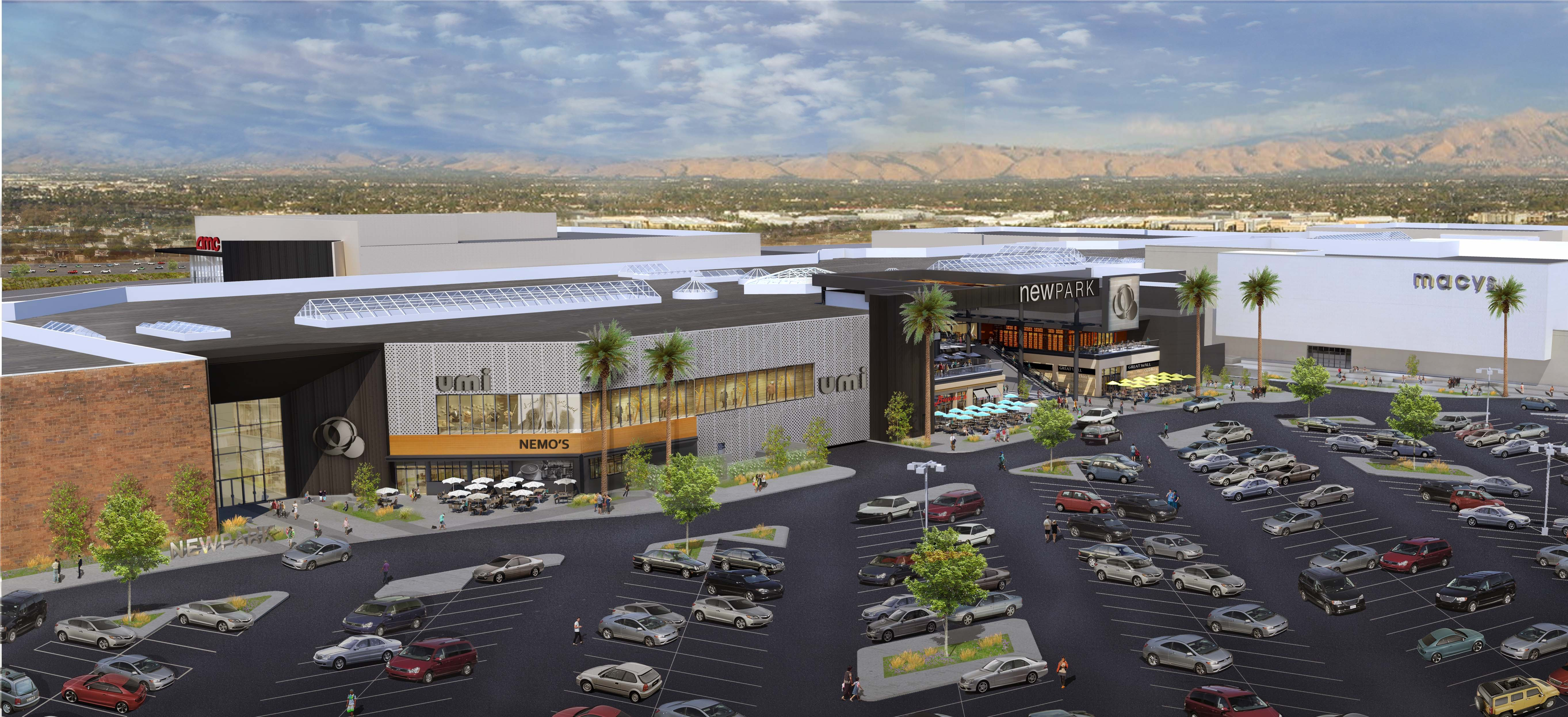 Aerial Rendering of NewPark Mall (Photo: Business Wire)
