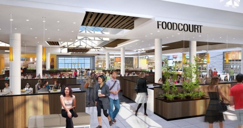 Rendering of NewPark Mall Food Court (Photo: Business Wire)