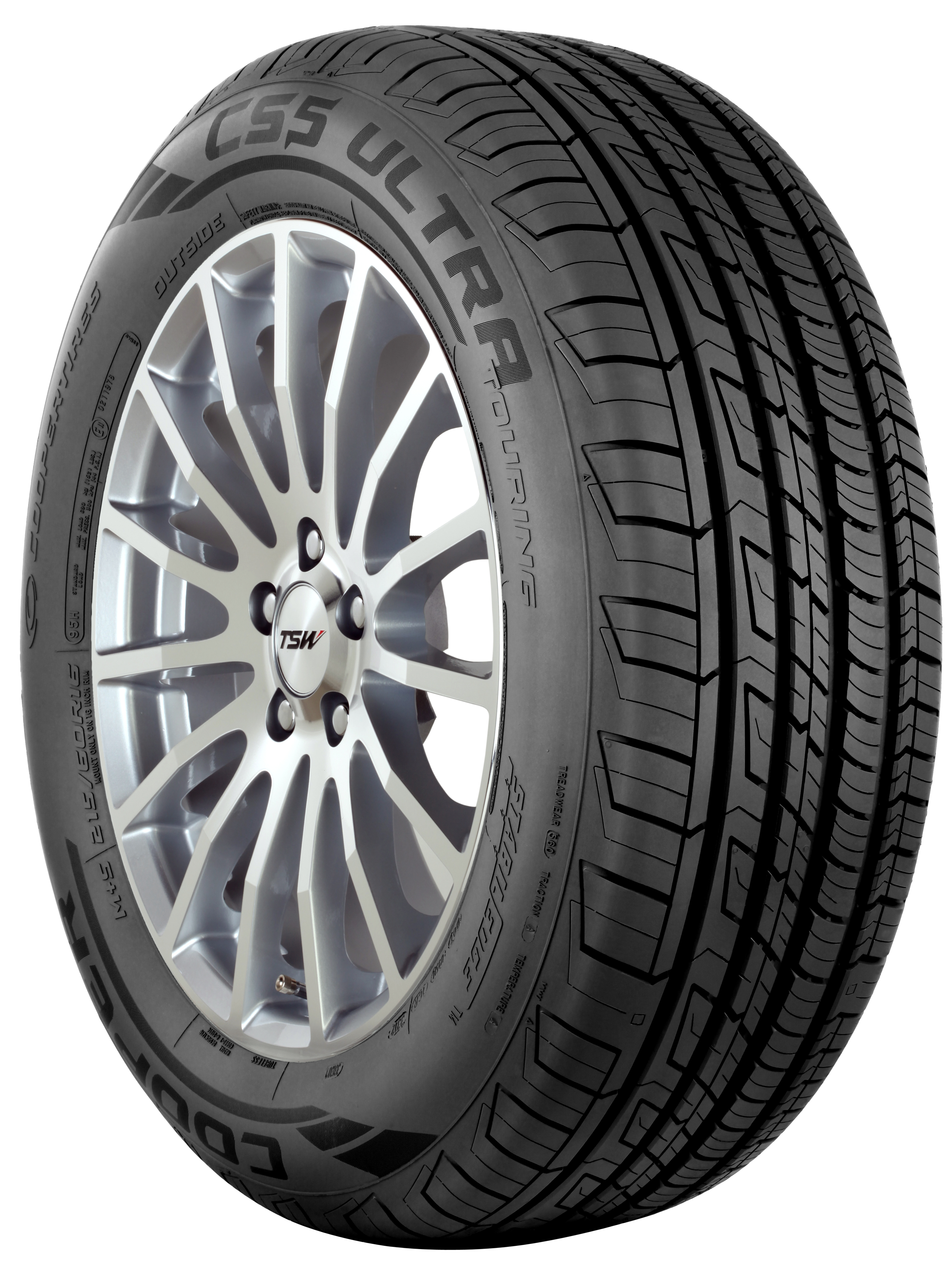 Cooper's new CS5 luxury touring tire with an innovative Wear Square™ visual tread wear indicator. (Photo: Business Wire)