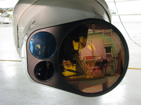 The Exelis long-wave infrared hyperspectral sensor and processing system provides real-time information about the composition of gases and solids, which is critical in the detection of improvised explosive devices or leaks emanating from containers and pipeline used in a variety of industries from oil and gas to chemical manufacturing and nuclear power, among others. (Photo: Business Wire)