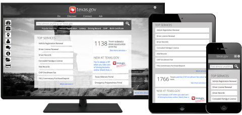 The new mobile-first Texas.gov performs seamlessly across a range of Internet-enabled devices. (Phot ...