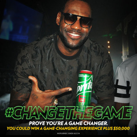 Sprite and LeBron James #ChangeTheGame again! (Photo: Business Wire)