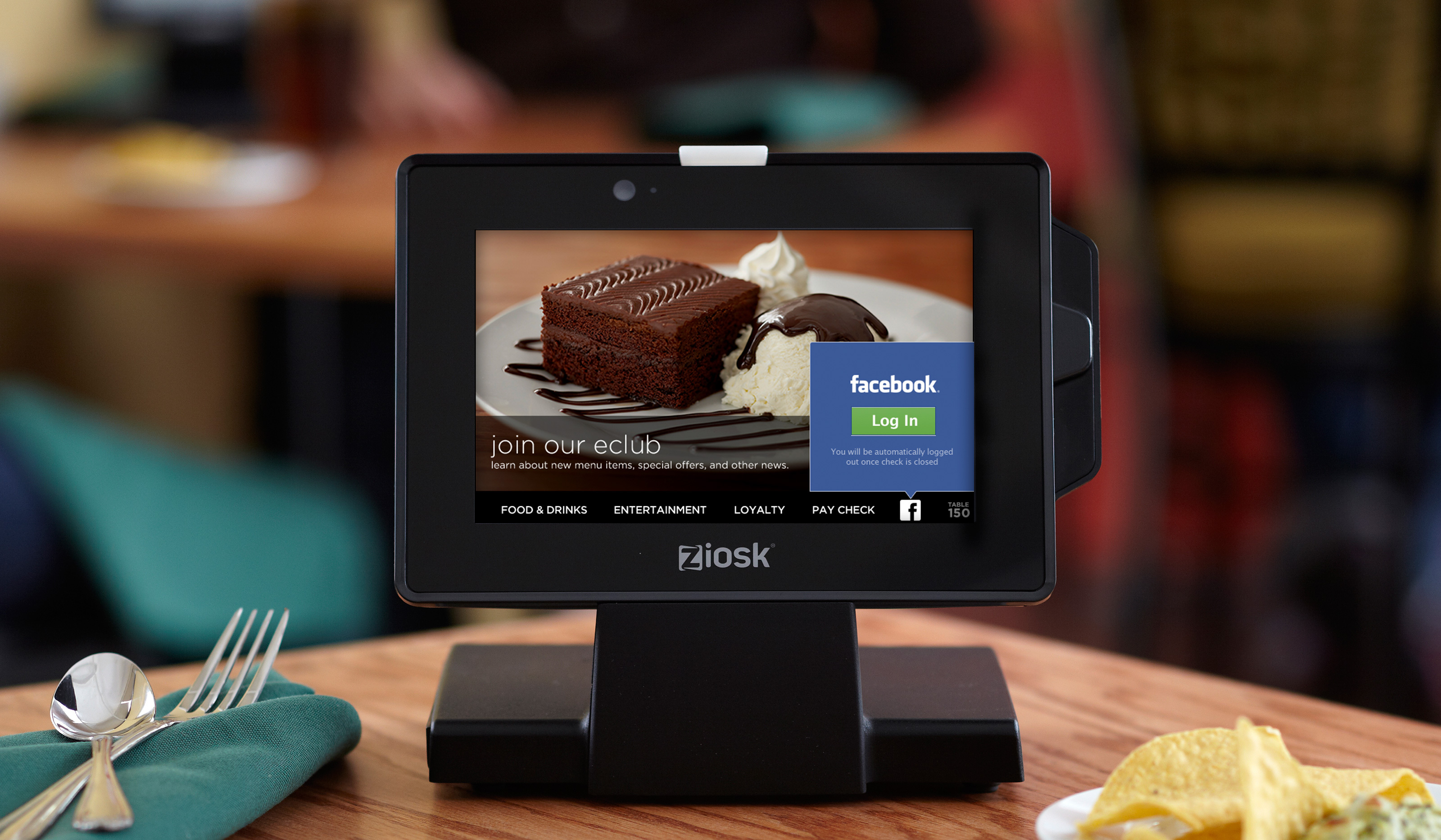 Ziosk 174 Unveils New Tabletop Tablet Functionality At 2014