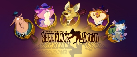 """myVEGAS Slots is #1 Downloaded Casino App on Phone and Tablet for All Major Platforms - iOS, Android, and Kindle. PLAYSTUDIOS Maintains Momentum with Launches of Two New Feature Rich Games - """"The Misadventures of Sheerluck Hound"""" for Facebook and """"Around the World in 80 Plays"""" for Mobile. (Graphic: Business Wire)"""